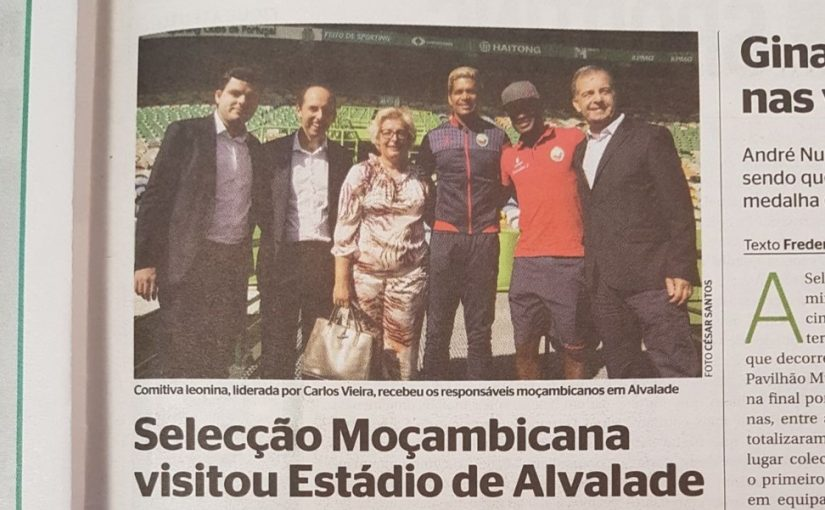 Seleção Moçambicana visitou Estádio de Alvalade
