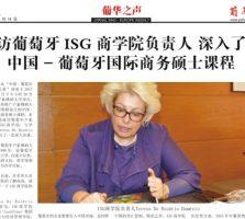 Entrevista ao jornal chinês Sino-Europe Weekly