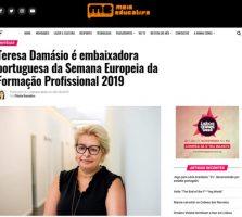 Teresa Damásio é embaixadora portuguesa da Semana Europeia da Formação Profissional 2019